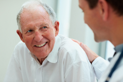 Sydney Prostate Centre - smiling man and his doctor